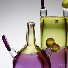 iittala / PomPom Bottle & Bambu 2015 Glass Art, Cups, Vase, Ceramics, Bottle, Color, Design, Crystals, Ceramica