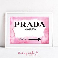 DISCOUNT PRADA Marfa background Watercolor. Apartment Gossip