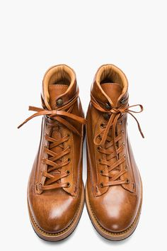 7 Days Theory, PAUL SMITH - TAN LEATHER BEAT UP STUBBS BOOTS