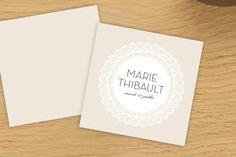 étiquette de mariage boudoir dentelle by Marion Bizet pour www.rosemood.fr #mariage #wedding #étiquette