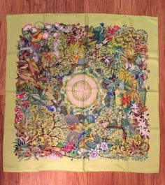 NWT Auth Hermes Paris Heart Of Life Couer De Vie Silk Scarf Carre Foulard 90cm #Hermes #scarf