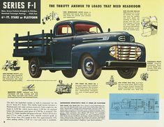 Vintage Photo and Advertisements - Ford Truck Enthusiasts Forums Classic Ford Trucks, Old Ford Trucks, Old Pickup Trucks, Diesel Trucks, Lifted Trucks, Ford Diesel, Lifted Ford, Jeep Pickup, Semi Trucks