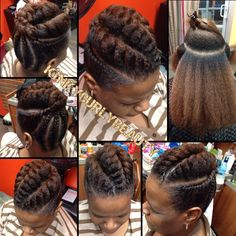 Fine flat twists updo – Gorgeous! From Khamit Kinks salon - Black ...