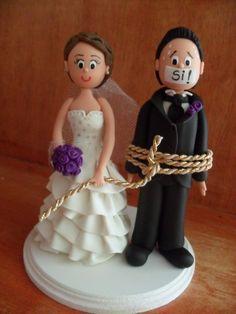 muñecos para pastel de bodas - Buscar con Google                                                                                                                                                     Más
