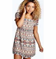 boohoo Natasha Nordic Aztec Cap Sleeve Skater Dress - Nineties revival reigns supreme with the spaghetti-strap slip dress stealing the what's hot top spot. Feminine, floaty fabrics and floral prints are our fave, with midi lengths a must-have. Go boho in http://www.comparestoreprices.co.uk/dresses/boohoo-natasha-nordic-aztec-cap-sleeve-skater-dress-.asp
