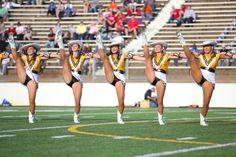 Tyler Apache Belles perform 2013 High Kick at homecoming.  Right Fan kicks!!!!