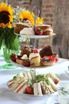 Use one of our 3 Tier Cake Stand - Circular - Porcelain to create mouth watering Afternoon Tea displays