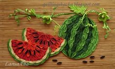 Quilled watermellon