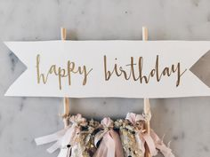 Cake Topper / Gold Calligraphy / Custom Hand Lettered/ Blush Pink Gold/ Made-To-Order/ Hand Made Mini Tassels / Happy Birthday / Birthdays / Party Sweets, Cupcake Party, Happy Birthday Cake Topper, Diy Birthday, Diy Cake Topper, Cake Toppers, Design Your Own Cake, Happy Birthday Calligraphy, 100 Day Celebration