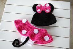 Crochet Hot Pink Minnie Mouse por CrochetCreationsbyMa en Etsy