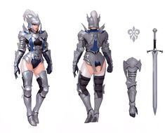 Knight (male and female), Jaehong Youn Female Character Concept, Fantasy Character Design, Character Design Inspiration, Character Art, Avatar Characters, Fantasy Characters, Female Characters, Female Armor, Female Knight