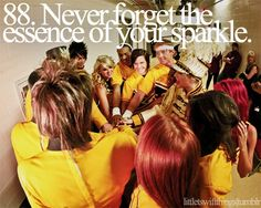 NEVER FORGET THE ESSENCE OF YOUR SPARKLE!!!!! Just like she told Phineas and Ferb! Hehe