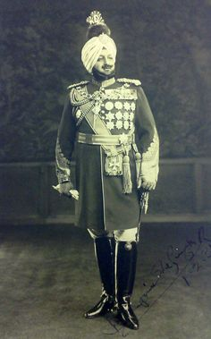 Maharaja Sir Bhupinder Singh GCSI GCIE GCVO GBE (1891–1938) was the ruling Maharaja of the princely state of Patiala from 1900 to 1938.Contributed substantially by sending his Sikh troops in the WWI.He himself visited the battlefields in France and Belgium.