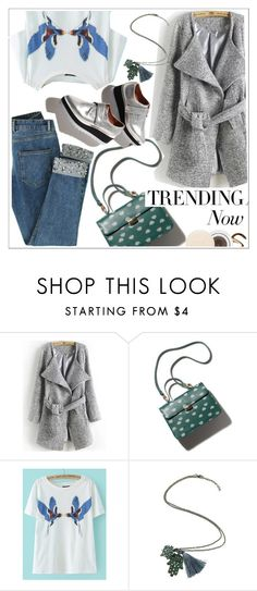 """""""Trending now:Grey wool coat"""" by teoecar ❤ liked on Polyvore featuring Jane Iredale, women's clothing, women's fashion, women, female, woman, misses and juniors"""