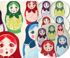 .. thomas paul's matryoshka plates and trays, which can be found at fred
