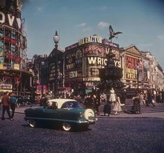 Piccadilly Circus, early 1960s, London.