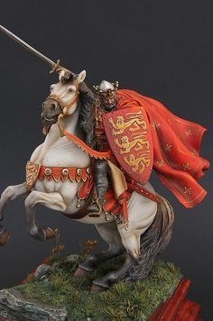 Marco's latest figures 2012 - 2013 all oil painted only Caballería Medieval, Medieval World, Medieval Knight, English Knights, Armadura Medieval, Landsknecht, Classical Antiquity, Military Figures, Fantasy Miniatures
