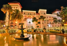 The Casa Monica Hotel in St. Augustine. We stayed here for our third anniversary.  Such interesting archetecture!