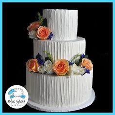 Rustic Chic Buttercream Wedding Cake – Blue Sheep Bake Shop