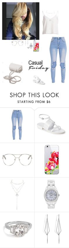 """Friday is my last day"" by faithanjel ❤ liked on Polyvore featuring Jil Sander, Chloé, OTM Essentials, Charlotte Russe, Rolex and Diane Kordas"