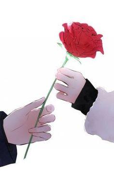 63 Trendy Ideas For Flowers Drawing Blue Anime Art - Anime - Blumen Couple Amour Anime, Anime Love Couple, Cute Anime Couples, Art Anime Fille, Anime Art Girl, Manga Girl, Art Floral, Anime Hand, Blue Anime
