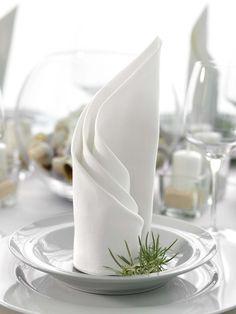 Ein Gedrehter Fächer Ist Eine Wunderbar Elegante Und Einfache Möglichkeit  Eine Serviette Zu Falten. Hier