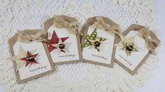 Handmade Holiday Tiny Treat Bags/Gift Card Holders - Set of 4