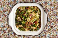 Shaved Brussels Sprouts with Country Ham  - CountryLiving.com Crockpot Side Dishes, Side Dishes For Ham, Vegetable Side Dishes, Thanksgiving Side Dishes, Thanksgiving Recipes, Thanksgiving 2016, Holiday Recipes, Ham Dinner, Dinner Sides