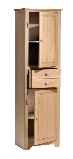Butler's Hardwood Pantry - UnfinishedFurnitureExpo