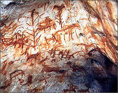 cave painting in tibet