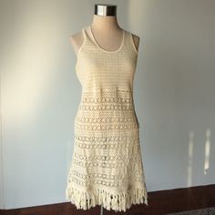 adabf687b8cdb Gorgeous boho swim suit coverup This is a swimsuit coverup made by Solitaire  Swim. Preowned