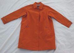 Lands End Womens Raincoat Rain Jacket 2X 20W-22W Trench Solid Orange NWOT #LandsEnd #Raincoat