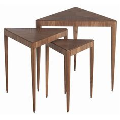 Triangle Nesting Tables; but they look like pizza stands to me. Maybe I love my job too much...