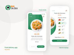 Food delivery app - Delivery Food - Ideas of Delivery Food - Food delivery app by George Tarielashvili Ui Design Mobile, App Ui Design, Design Design, Design Thinking, Delivery App, Delivery Food, App Promotion, App Design Inspiration, Portfolio Web Design