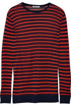 T by Alexander Wang Striped jersey top | NET-A-PORTER
