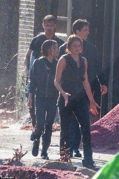Shailene Woodley, Theo James et Miles Teller sur le tournage de Allegiant - Part 1