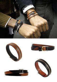 WANT LES ESSENTIELS DE LA VIE LEATHER BRACELETS | STYLESEEKER man - Personalised Style Search and Style Blog