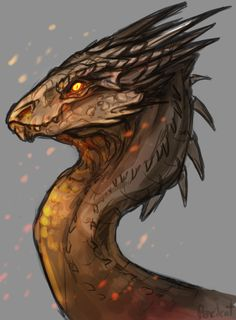 Draw Creatures Smaug 2 by AbelPhee - Mythical Creatures Art, Magical Creatures, Fantasy Creatures, Creature Concept Art, Creature Design, Creature Drawings, Animal Drawings, Dragon Sketch, O Hobbit