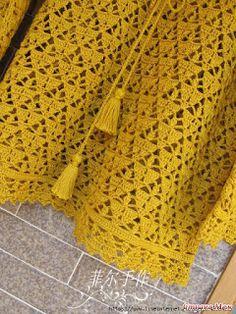 x 376 KB) 2020 – Baby Kleid -Kleidung Dresses 2020 Crochet Shirt, Crochet Jacket, Crochet Cardigan, Crochet Baby, Knit Crochet, Free Crochet, Crochet Motifs, Crochet Stitches, Crochet Patterns