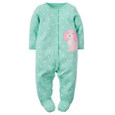 Baby Girl Carter's Polka-Dot Sleep & Play