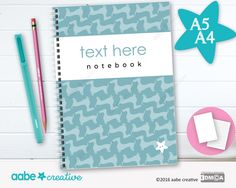 Personalised Notebook (Stan Sausage Wallpaper), handmade stationery - lots of designs to choose by aabecreative on Etsy
