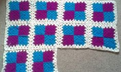 This is a blanket that a started a few weeks ago need to finish it  Love the colours