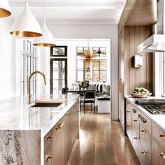 SusanstraussdesignNatural Gone Glam! #designer #kitchen #design #wood  #metal #luxurylifestyle