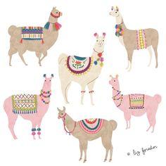 mascottes ∞ illustration animale faune le lama
