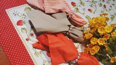 Toalhas e guardanapos coloridos na Filigrana
