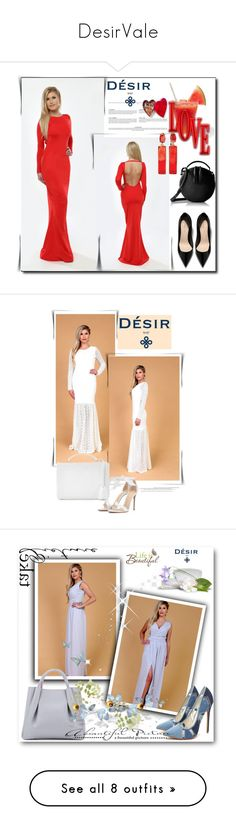 """""""DesirVale"""" by newoutfit ❤ liked on Polyvore featuring StreetStyle, chic, dress, Alexandre Birman, Mark Cross, Wall Pops!, Amanda Wakeley, Gianvito Rossi, plus size dresses and Casadei"""