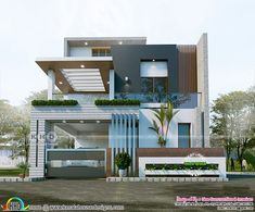 1624 sq-ft 3 bedroom contemporary house in 2 different looks 1624 sq-ft 3 bedroom contemporary house in 2 different looks,Home decor Contemporary home design 01 Related posts:Autumn nails – Long Nail Designs - Water. Modern Exterior House Designs, Best Modern House Design, Modern House Facades, Latest House Designs, Bungalow House Design, Contemporary House Plans, Dream House Exterior, Modern Architecture House, Modern Contemporary