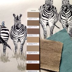 Working on a client scheme today for a little boys bedroom using our Dazzle wallpaper, @sofadotcom and @loaf fabrics with @pantone paint hues. #tapfortags #wallpaper #wallcoverings #zebras #inspiration #interiordesign #safari #fabrics #paint #colour #childrensbedroom #design #detail #illustration #drawing #homedecor #luxury #lifestyle #bedroom