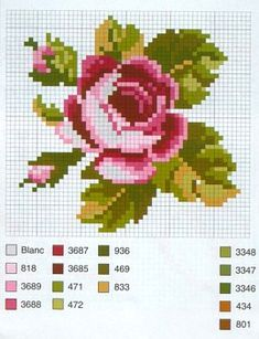 miniature needlework chart
