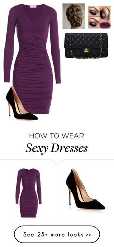 """"""""""" by evieredell on Polyvore featuring Velvet, Gianvito Rossi and Chanel"""